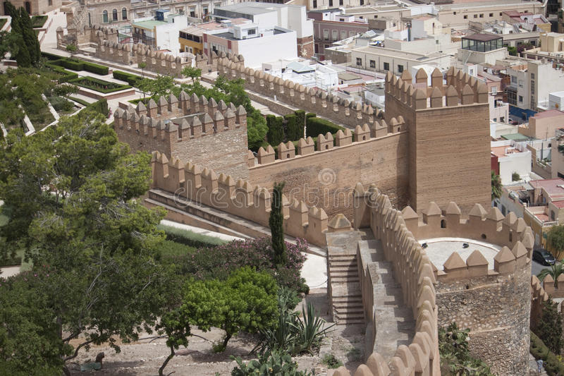 Alcazaba in Almeria royalty-vrije stock foto