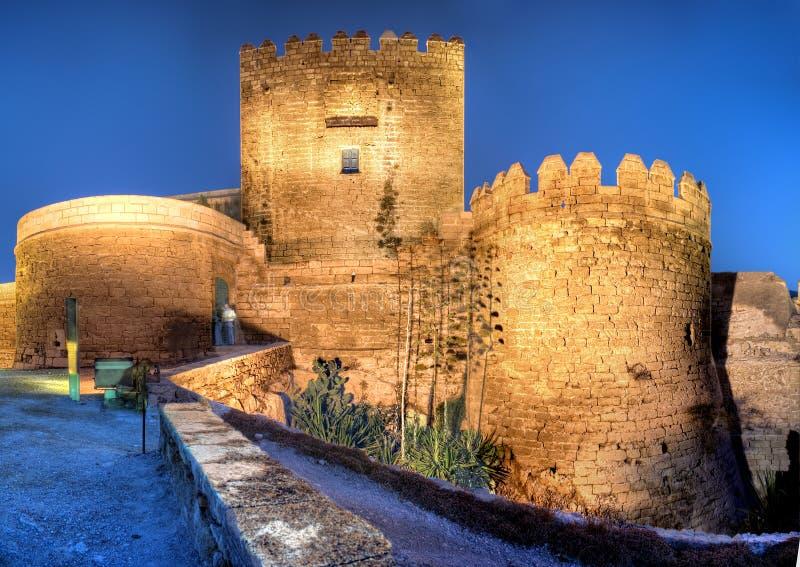 alcazaba Almeria de zdjęcie royalty free