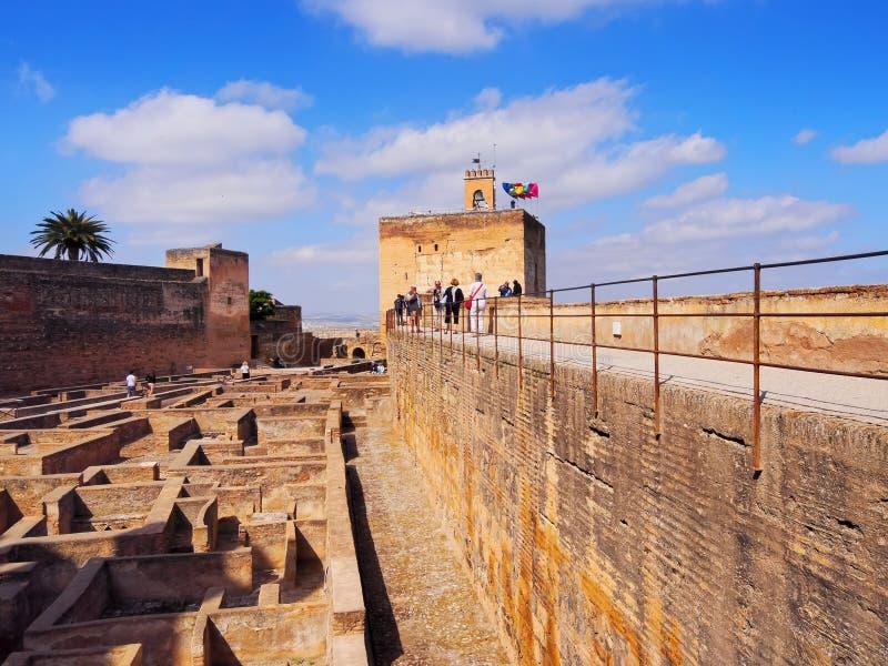 Alcazaba en Granada, España imagenes de archivo