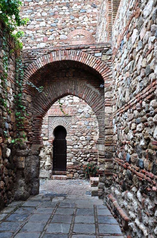 Alcazaba en Málaga, España foto de archivo