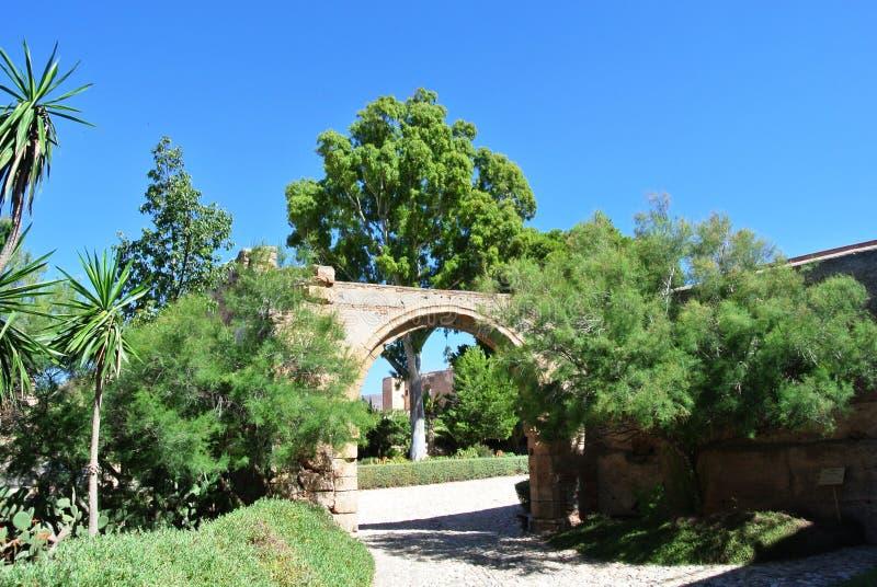 Alcazaba (fästning) i Almeria, Andalusia royaltyfri fotografi
