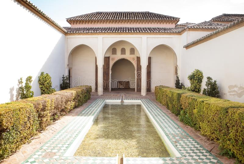 The Alcazaba fortification in Málaga stock photos