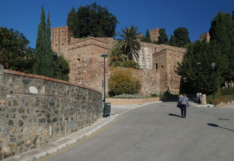 The Alcazaba, a fortress in the Andalusian city of Malaga, Spain. The Alcazaba, an old fortress in the Andalusian city of Malaga, Spain stock photos