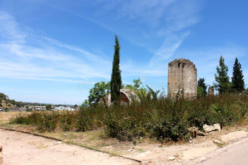 Alcazaba von Badajoz, Spanien lizenzfreie stockfotos