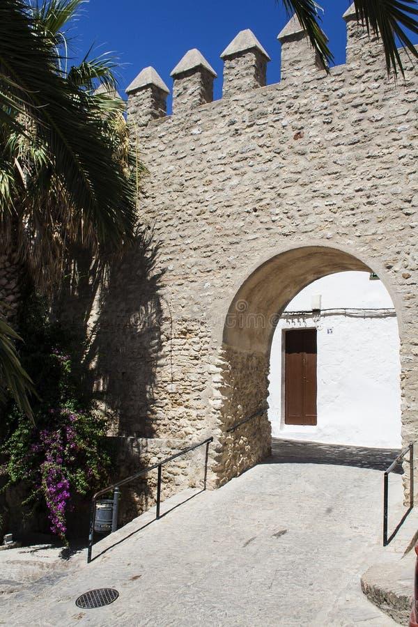 Alcazaba Wall and door stock image