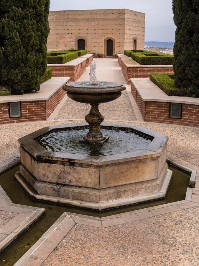 Alcazabaen i Almeria, Spanien fotografering för bildbyråer