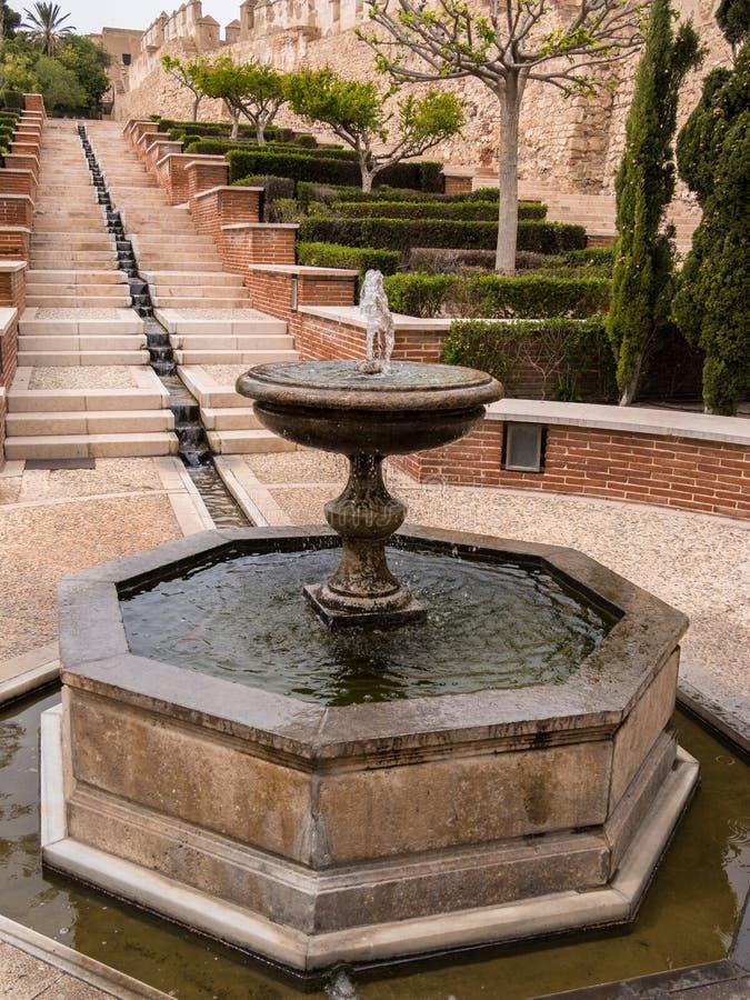 Alcazabaen i Almeria, Spanien arkivfoto