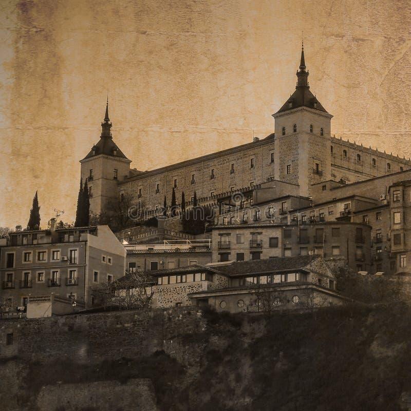 Alcazar в Toledo, Кастили крепости, Испания стоковые фото