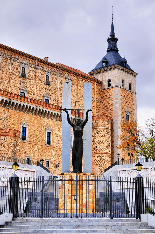 Памятник в Toledo, Испании стоковое изображение rf