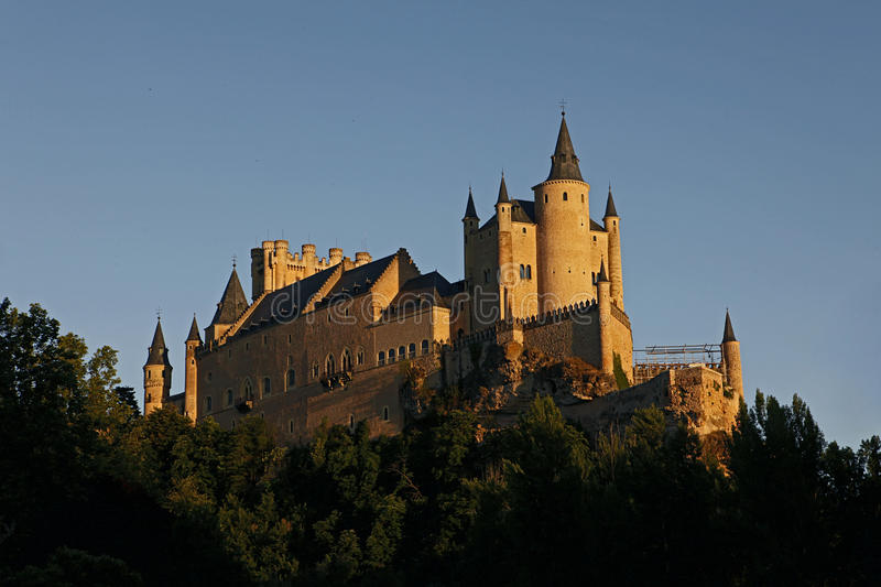 Alcazar, Castle in Segovia, Spain royalty free stock image