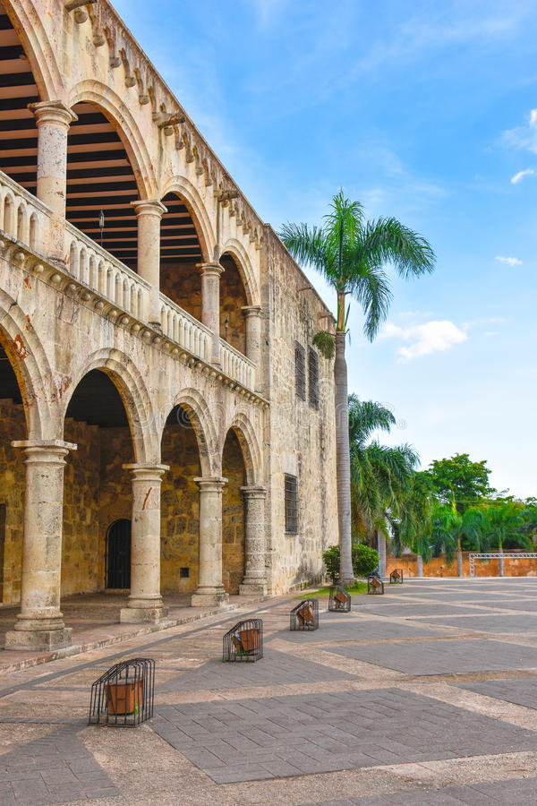 Alcazar de Dois pontos, Diego Columbus Residence em Santo Domingo, República Dominicana fotos de stock royalty free