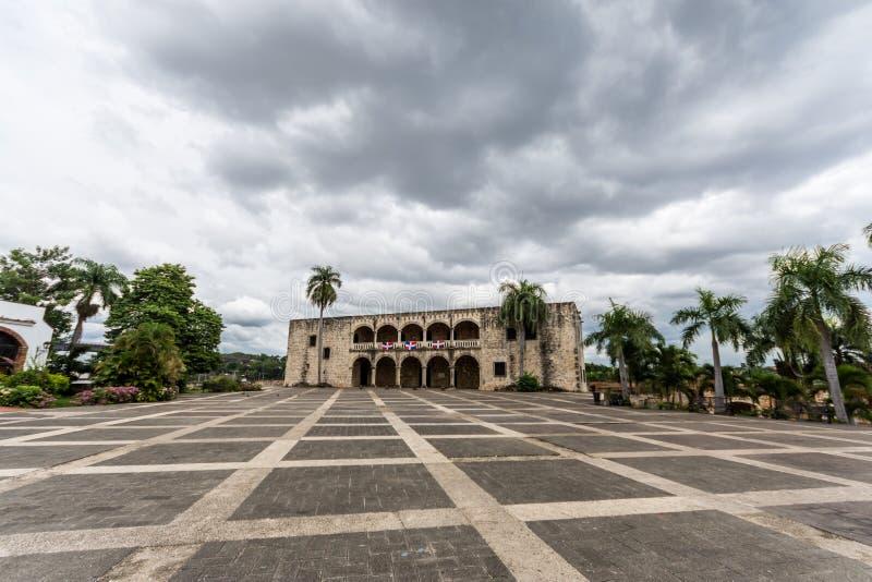 Alcazar De Dwukropek w Santo Domingo na chmurnym dniu obrazy royalty free