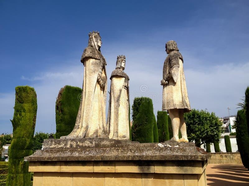 Alcazar DE los Reyes Cristianos in Cordoba stock afbeelding