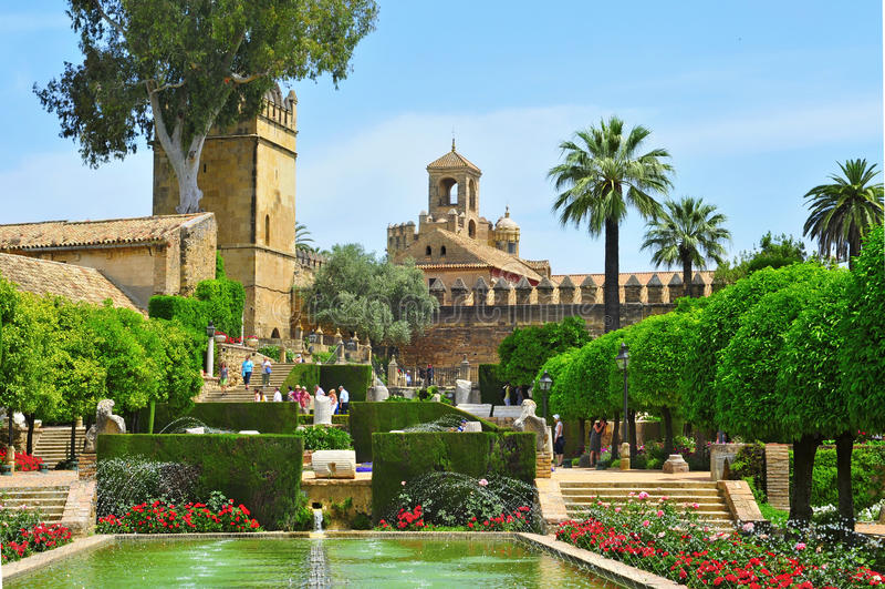 Alcazar de los Reyes Cristianos in Cordoba, Spain royalty free stock photos