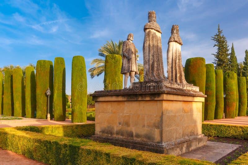 Alcazar DE los Reyes Cristianos, Cordoba, Spanje stock fotografie