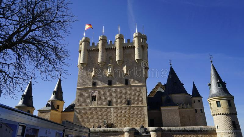 Alcazar de Segovia. royalty free stock photos