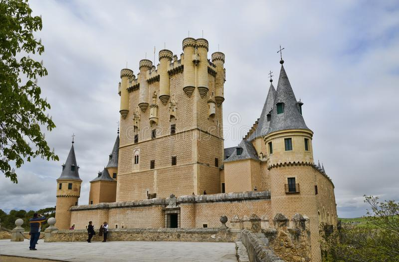 Alcazar de Segovia castle Spain royalty free stock photography