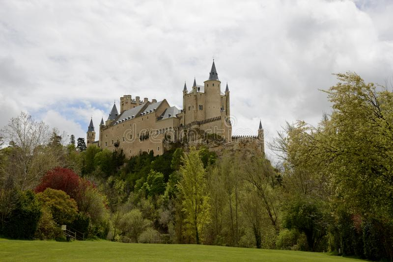 Alcazar de Segovia castle Spain royalty free stock photos