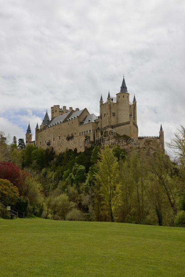 Alcazar de Segovia castle Spain stock photo