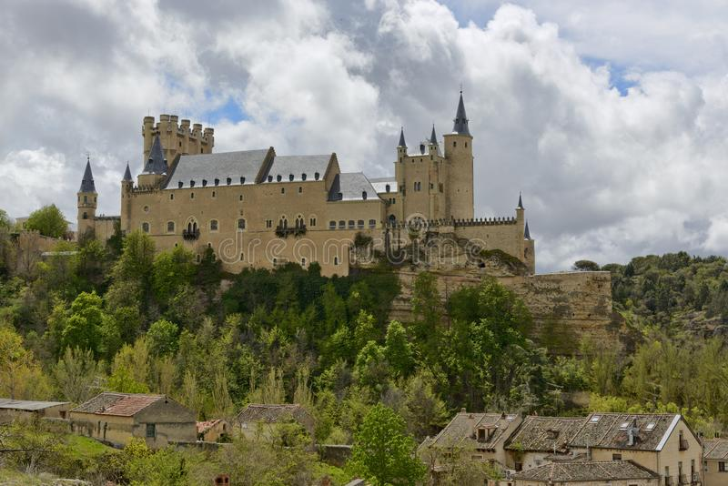 Alcazar de Segovia castle royalty free stock photos