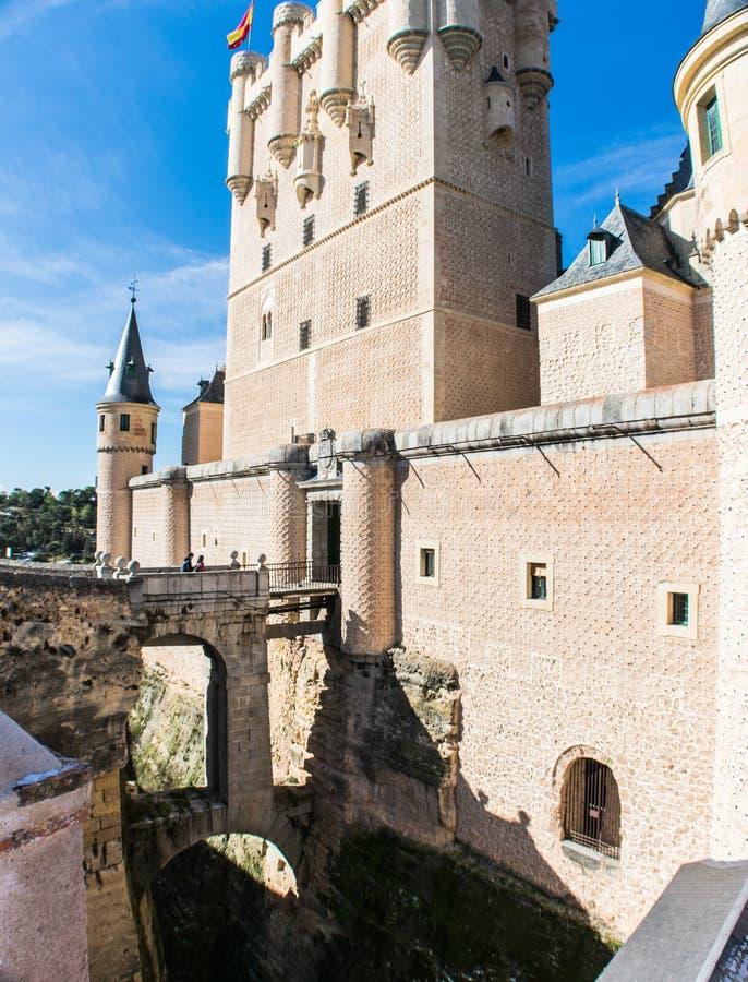 Alcazar de Segovia exterior view of the fortress stock image