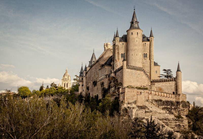 Alcazar de Segovia, monumento del patrimonio mondiale Vecchia fortezza e castello medievale immagini stock libere da diritti