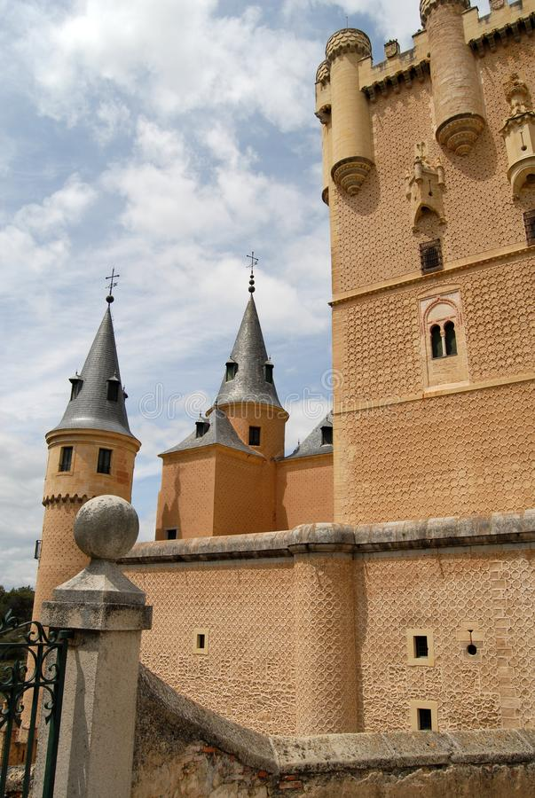 Alcazar de segovia in spain stock photography
