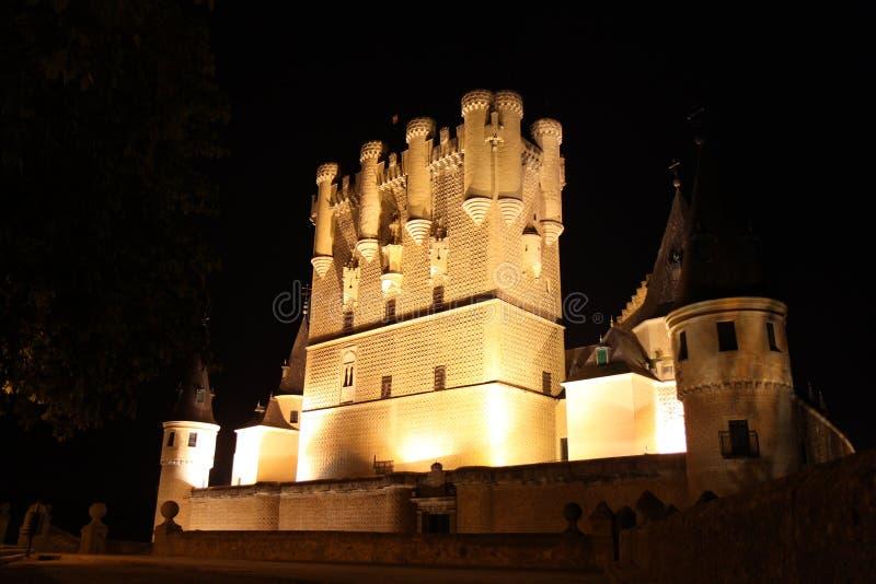Alcazar del castello di Segovia immagine stock