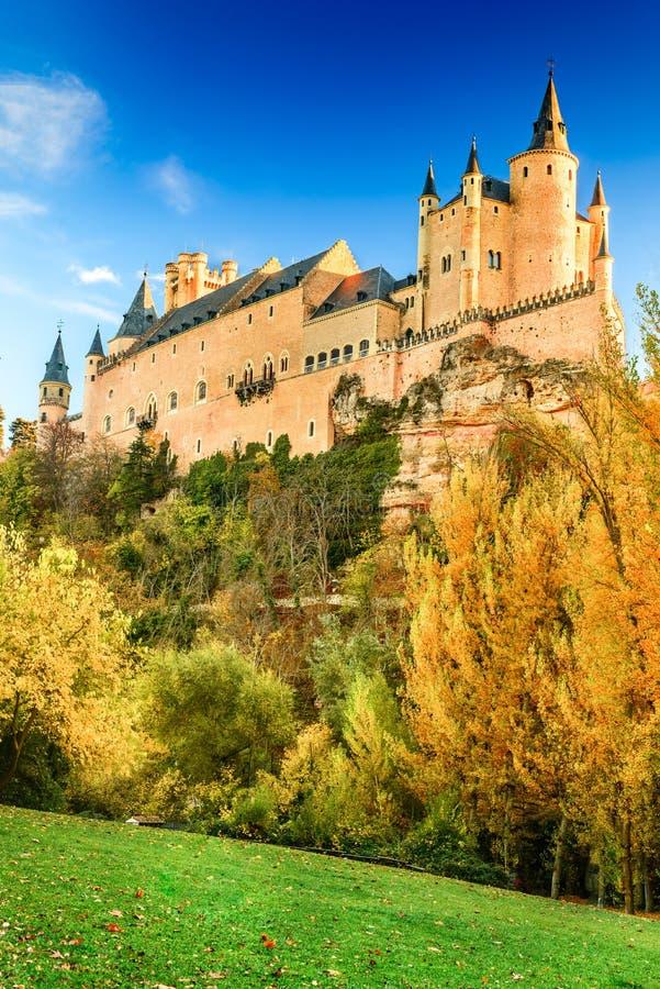 Alcazar di Segovia, Castiglia, Spagna immagini stock libere da diritti