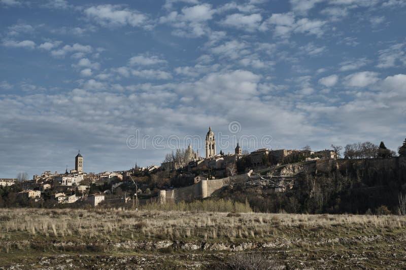 Alcazar di Segovia di vista fotografia stock libera da diritti