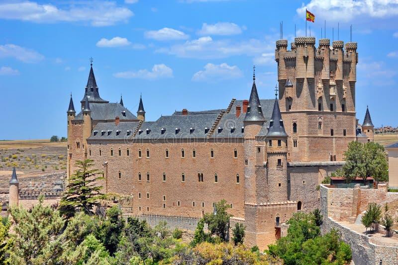 Alcazar do castelo de Segovia, Espanha fotos de stock