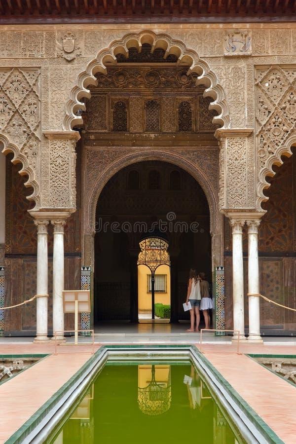 Alcazar en Sevilla imagen de archivo libre de regalías
