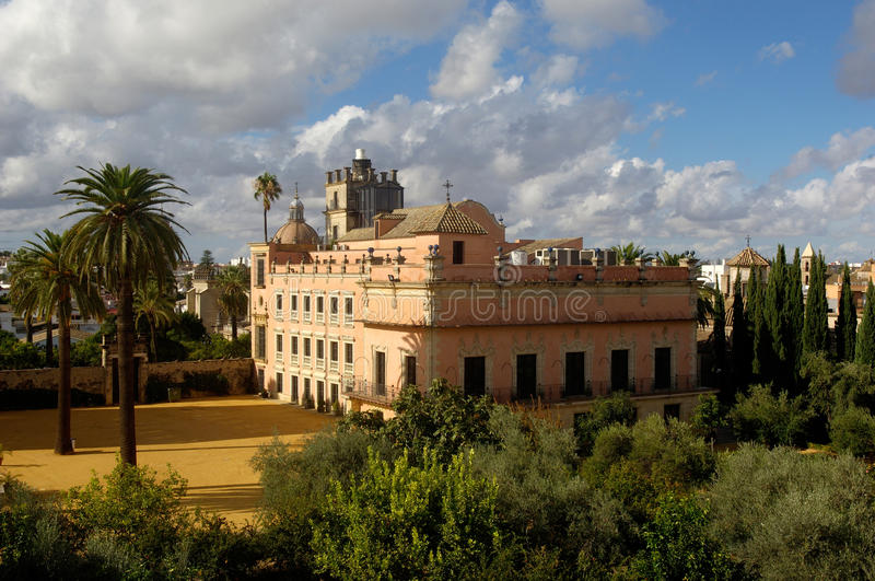 The Alcazar of Jerez de la Frontera, Andalucia. Alcazar of Jerez de la Frontera, Andalucia, spain stock photography