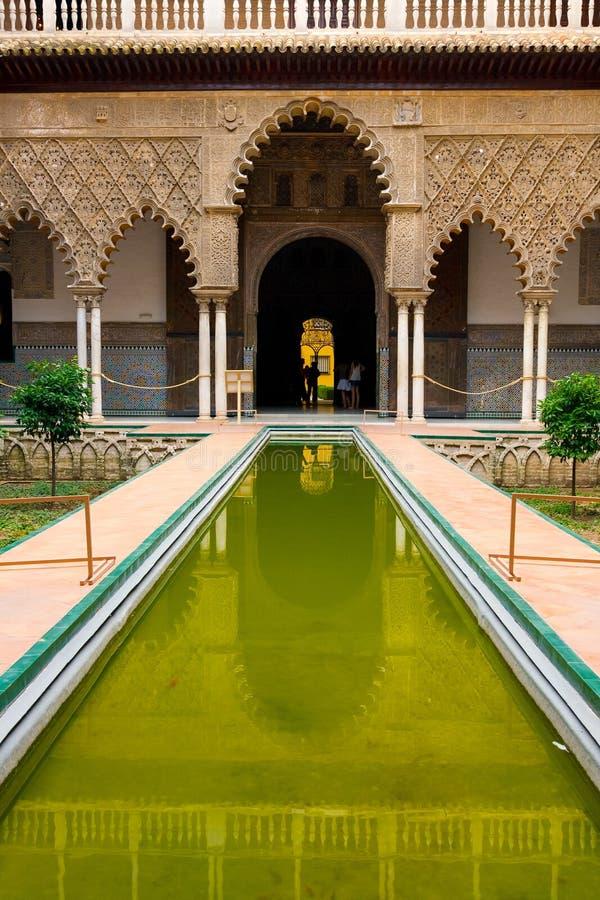 Alcazar palace in Sevilla royalty free stock photo