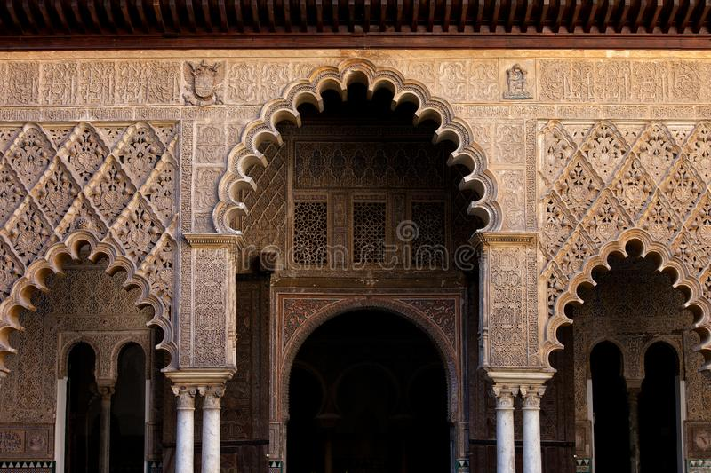 Alcazar Palace of Seville Architectural Details stock photography