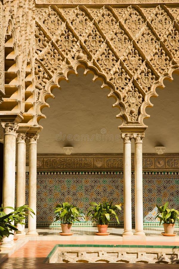 Alcazar réel, Séville, Espagne images stock