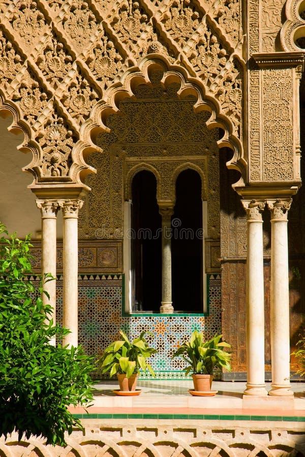 Alcazar réel, Séville, Espagne image libre de droits