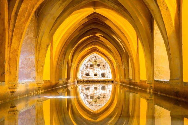 Alcazar real de Sevilla fotografía de archivo libre de regalías