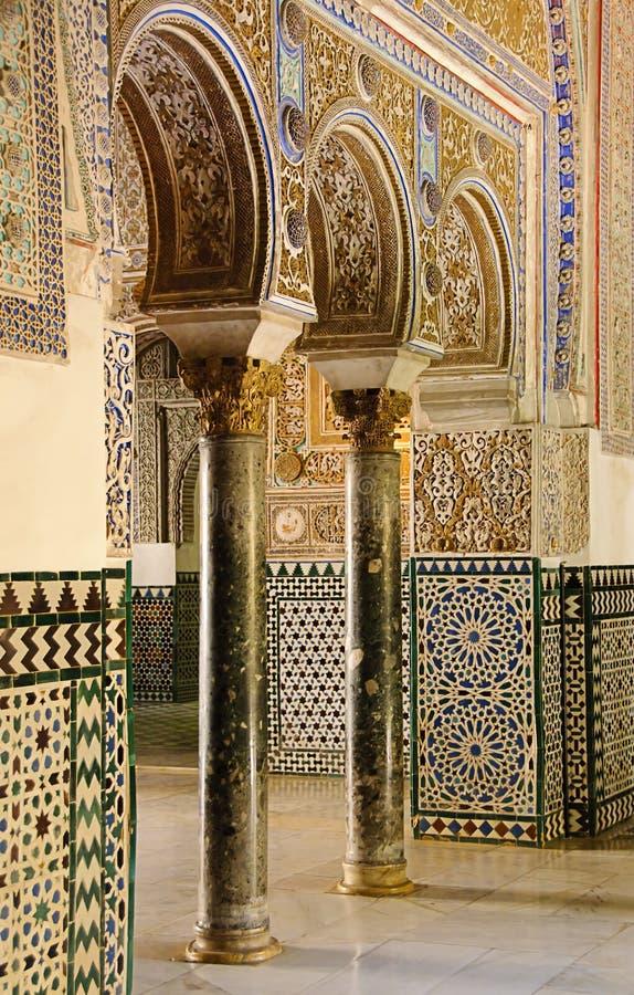 Alcazar real em Sevilha, Spain foto de stock