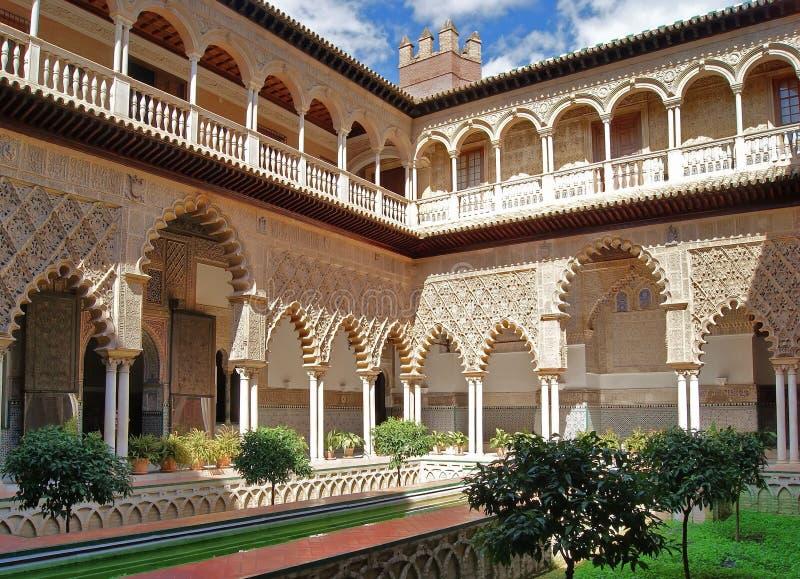 Alcazar reale di Siviglia fotografia stock