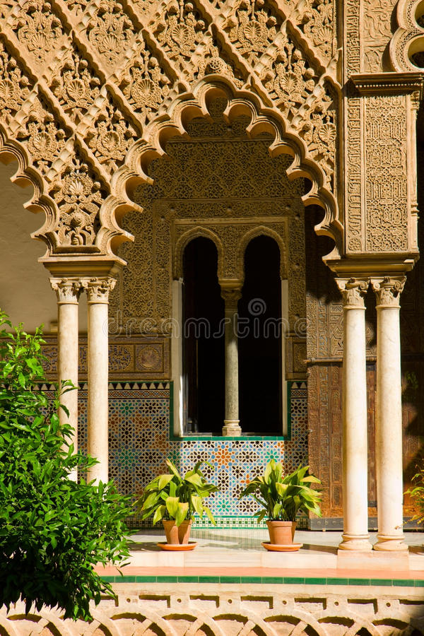 Alcazar reale, Sevilla, Spagna immagine stock libera da diritti