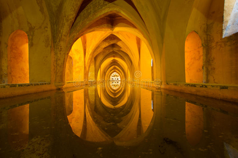 Alcazar royal de Séville, Espagne image libre de droits