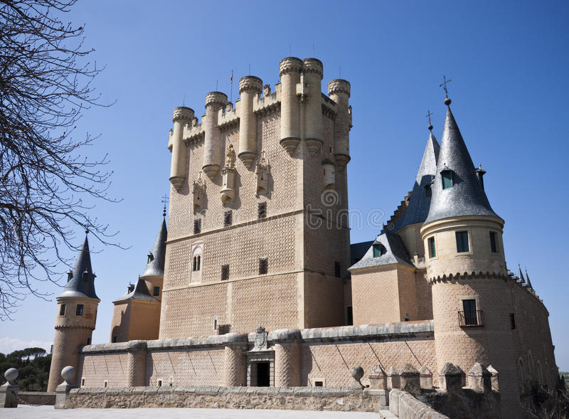 Alcazar in Segovia stock afbeelding