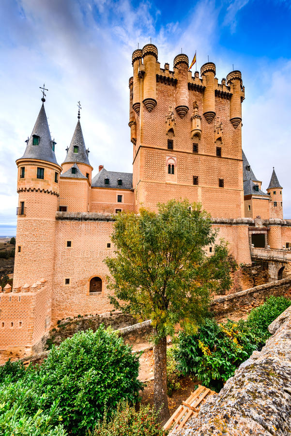 Alcazar of Segovia, Castile, Spain stock photography