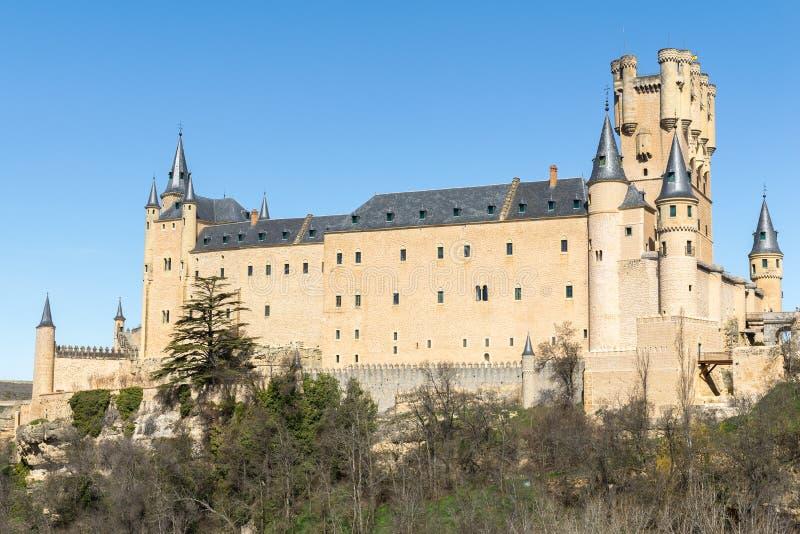 Alcazar of Segovia, Castilla-Leon, Spain stock images