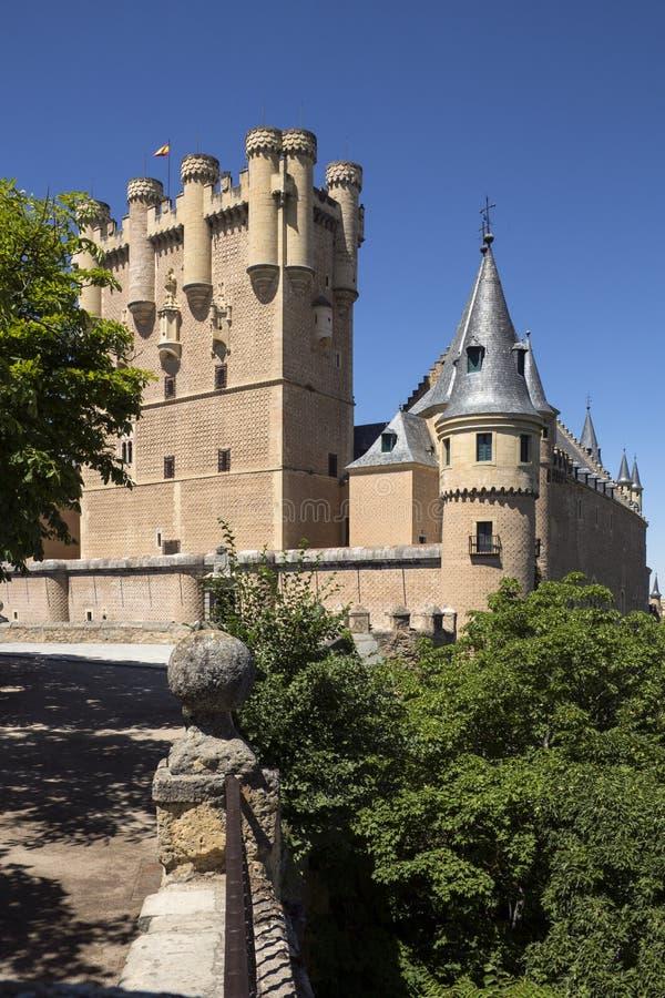 Alcazar - Segovia - Hiszpania obraz royalty free