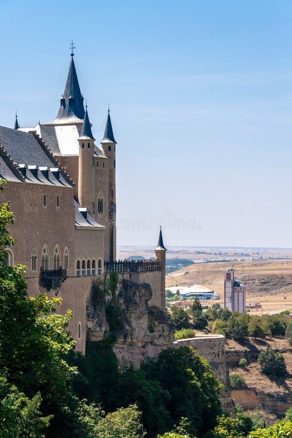 Alcazar of Segovia in Castile and Leon, Spain stock image