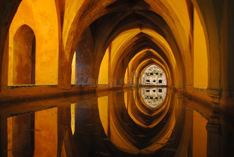 Alcazar in Sevilla royalty-vrije stock foto's