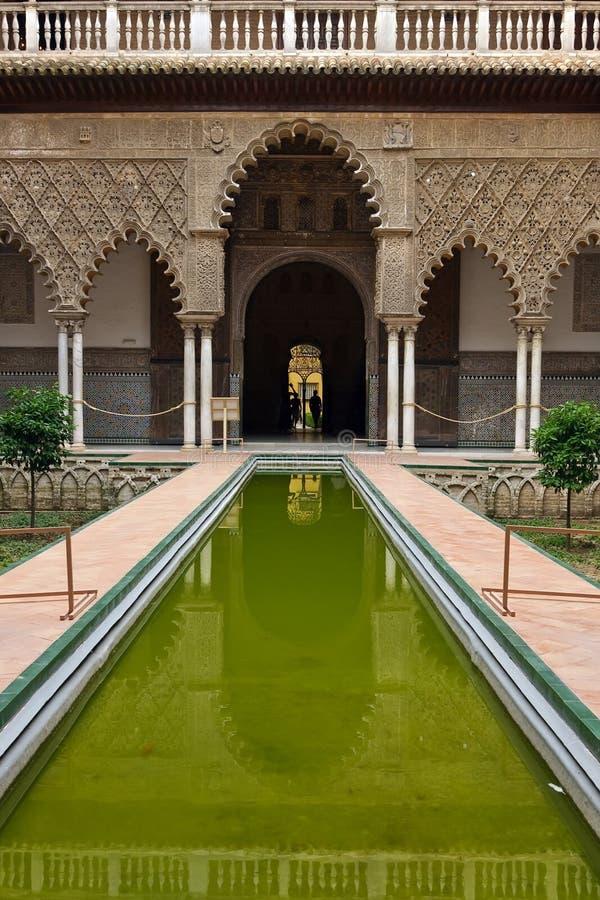 Alcazar in Sevilla stockfotografie