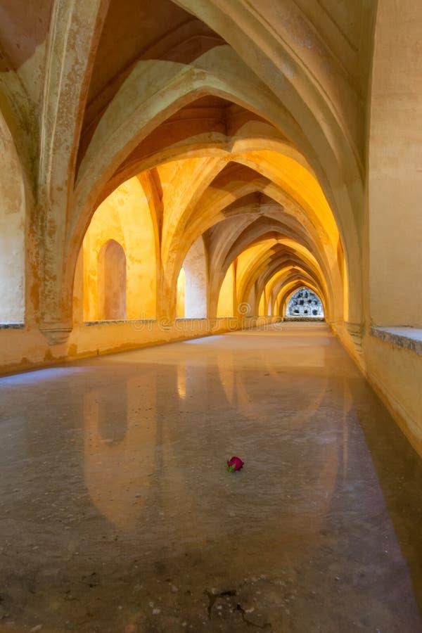 Alcazar, Sevilla, Spanje stock fotografie